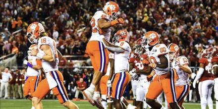 Campeonato Nacional de Fútbol Universitario: Clemson barre a Alabama