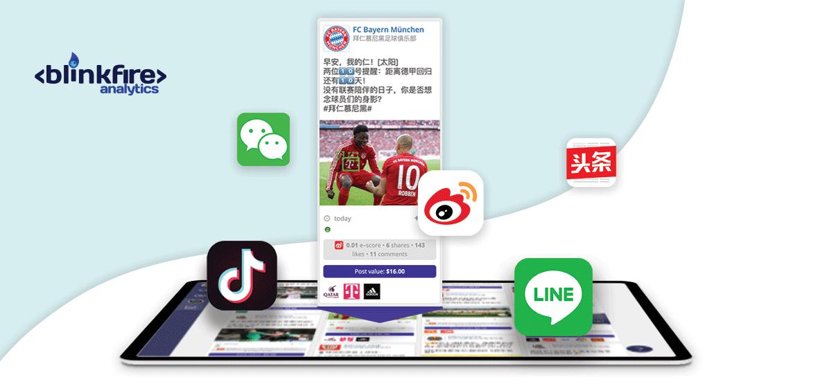 Redes sociales y aplicaciones asiáticas